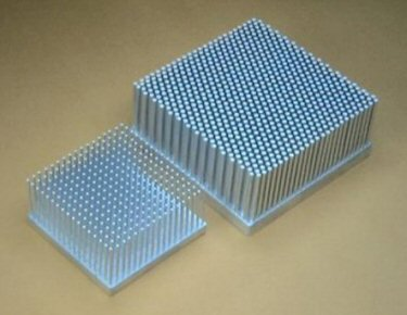 Picture of high density and low density heat sinks